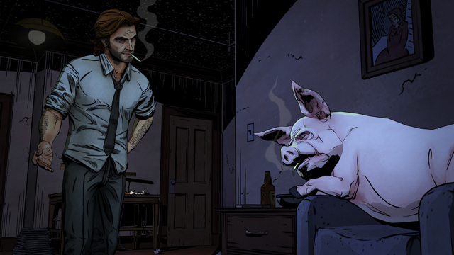 Bigby and Colin in Telltale Games' The Wolf Among Us, based on Bill Willingham's FABLES comics