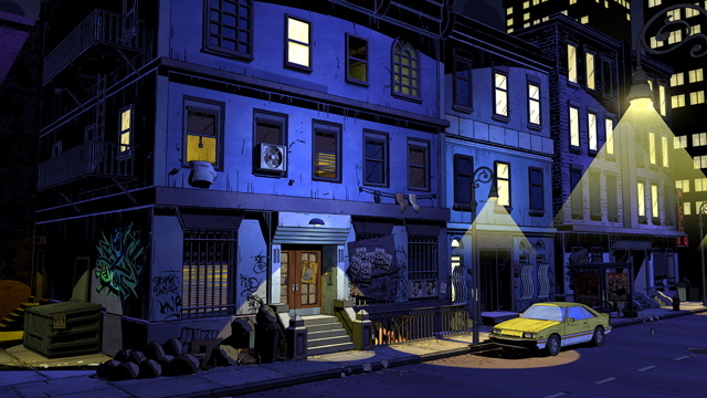 Fabletown environment in Telltale Games' The Wolf Among Us, based on Bill Willingham's FABLES comics