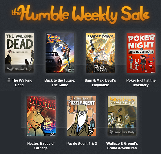Telltale Games Humble Weekly Sale - The Walking Dead, Back to the Future, Sam & Max and more