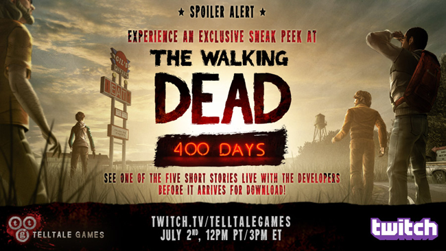 The Walking Dead: 400 Days sneak peek live on Twitch with Telltale Games