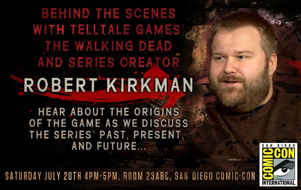 Telltale Games and Robert Kirkman San Diego Comic-Con SDCC panel