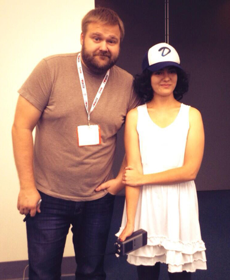 Robert Kirkman and Clementine cosplayer