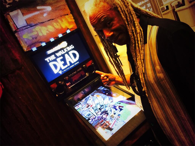 Dave Fennoy played The Walking Dead pinball
