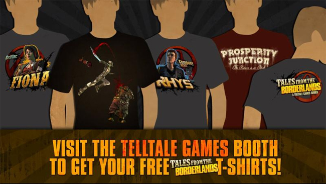 Tales from the Borderlands PAX t-shirts